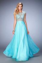 La Femme Gigi GiGi - 22885 Jeweled Scroll Motif Gown