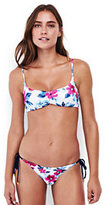 Lands' End Women's Bralette Bikini Top-Navy Storm Starry Dot