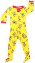"Elowel Pajamas Elowel Baby Girls footed ""Butterfly"" pajama sleeper 100% cotton 3 Toddler"