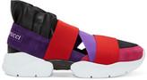 Emilio Pucci Purple & Black Colorblock Slip-On Sneakers
