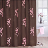 BROWNING Browning Buckmark Pink Shower Curtain