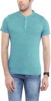 American Crew Men's Henley Half Sleeve Slub T-Shirt - XL (ACHN49-XL)