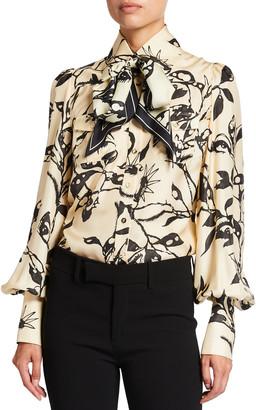 Zimmermann Ladybeetle Scarf-Tie Shirt