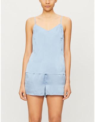 Selfridges Tabitha silk-blend satin pyjama top