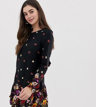 New Look Tall floral border print dress-Multi