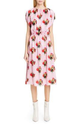 ADAM by Adam Lippes Floral Print Silk Dress