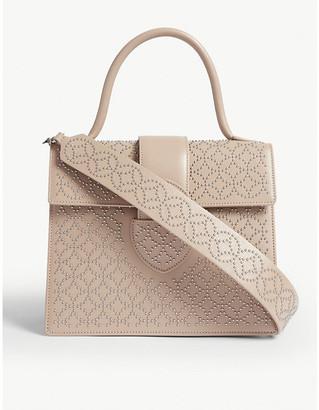 Arabesque stud leather cross-body bag
