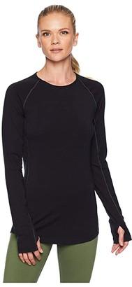 Icebreaker 200 Zone Merino Baselayer Long Sleeve Crewe (Black/Mineral) Women's Clothing