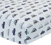 Lambs & Ivy Evan Cars & Trucks Fitted Crib Sheet