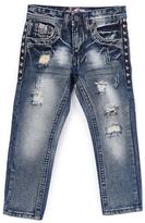 Monarchy Dark Blue Worn Fashion Premium Denim Jeans
