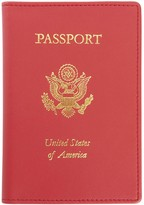 Royce Leather Royce New York Leather Foil Stamped RFID Passport Jacket