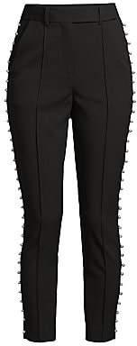Rebecca Vallance Women's Pipi Faux-Pearl Trim Pants