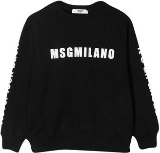 MSGM Black Sweatshirt Moncler Enfant