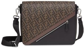 Fendi FF motif flap messenger bag