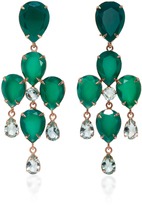 Bounkit Green Onyx and Amethyst Two-Way Earrings
