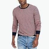 J.Crew Factory Cotton-linen striped crewneck sweater