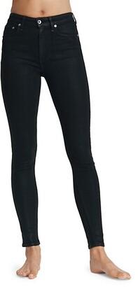 Rag & Bone Nina High-Rise Coated Skinny Jeans