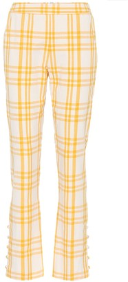 Rosie Assoulin Oboe plaid cotton pants