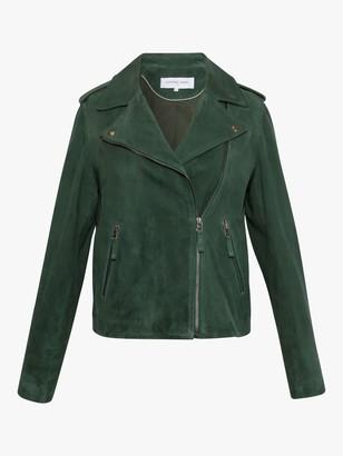 Gerard Darel Neby Suede Jacket, Green