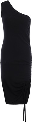 Alexander Wang One-shoulder Ruched Merino Wool Mini Dress