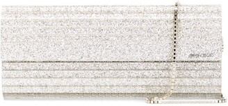 Jimmy Choo Sweetie glitter-effect clutch bag