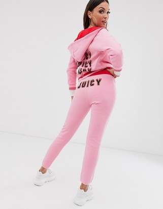 Juicy Couture Black Label flames logo high waisted joggers
