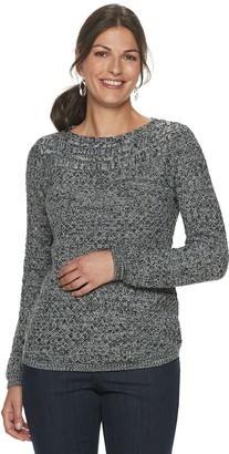 Croft & Barrow Women's Cable Boatneck Sweater