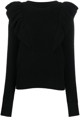 Isabel Marant Blakely ruffled shoulders jumper