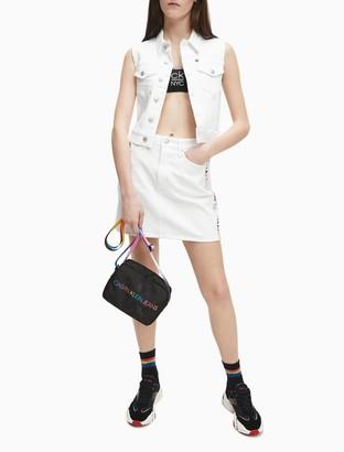 Calvin Klein White Denim Sleeveless Vest