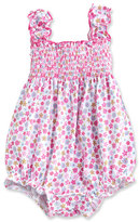 Kissy Kissy Parisian Summer Smocked Bubble Playsuit, Pink, Size 3-18 Months