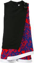 Carven floral print top - women - Silk/Polyester/Acetate - 34