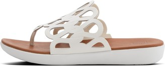 FitFlop Elodie Loops Leather Toe-Post Sandals