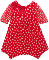 Rare Editions Long Sleeve A-Line Dress - Toddler Girls