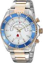 Peugeot Men's 1048TT Two-Tone Rose Gold and Stainless Steel Circular Calendar Analog Display Quartz Watch