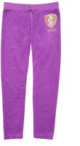 Juicy Couture Girls Logo Velour Flight Of Juicy Slim Pant