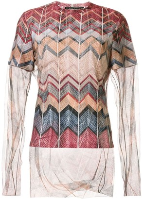 Y/Project Layered Sheer Knit Top