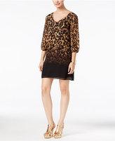 Thalia Sodi Printed Lattice-Back Shift Dress