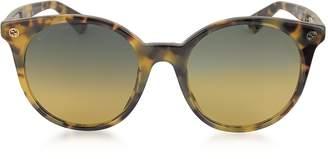 Gucci GG0091S Acetate Round Women's Sunglasses