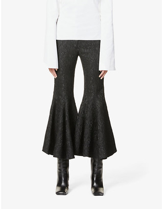 Hyun Mi Nielsen Flared high-rise woven trousers