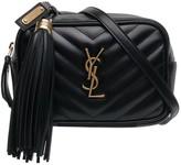 Saint Laurent quilted logo detail leather belt bag