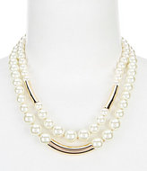 Anne Klein Faux-Pearl Double-Row Collar Necklace