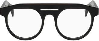 Yohji Yamamoto Black Round Brow Glasses