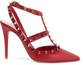 Valentino Rockstud Textured-leather Pumps - IT37