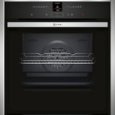 Neff B47CR32N1B Slide and Hide EcoClean Single Electric Oven, Stainless Steel
