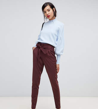 Y.A.S Tall paperbag waist trouser-Brown