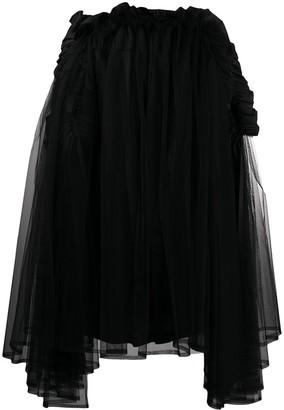 Comme des Garcons Asymmetric Tulle Skirt