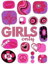 Freestyle 27 in. x 19 in. Girls Only Wall Decal