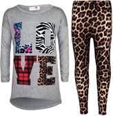 a2z4kids Kids Girls LOVE Printed Trendy Top & Stylish Fashion Legging Set Age 7-13 Years