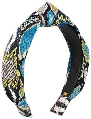 Bari Lynn Snake Print Knot Headband