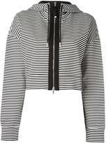 Diesel Black Gold striped zipped cardigan - women - Cotton/Polyamide/Spandex/Elastane - XS
